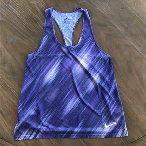Nike Dri Fit Tank Medium Purple Print